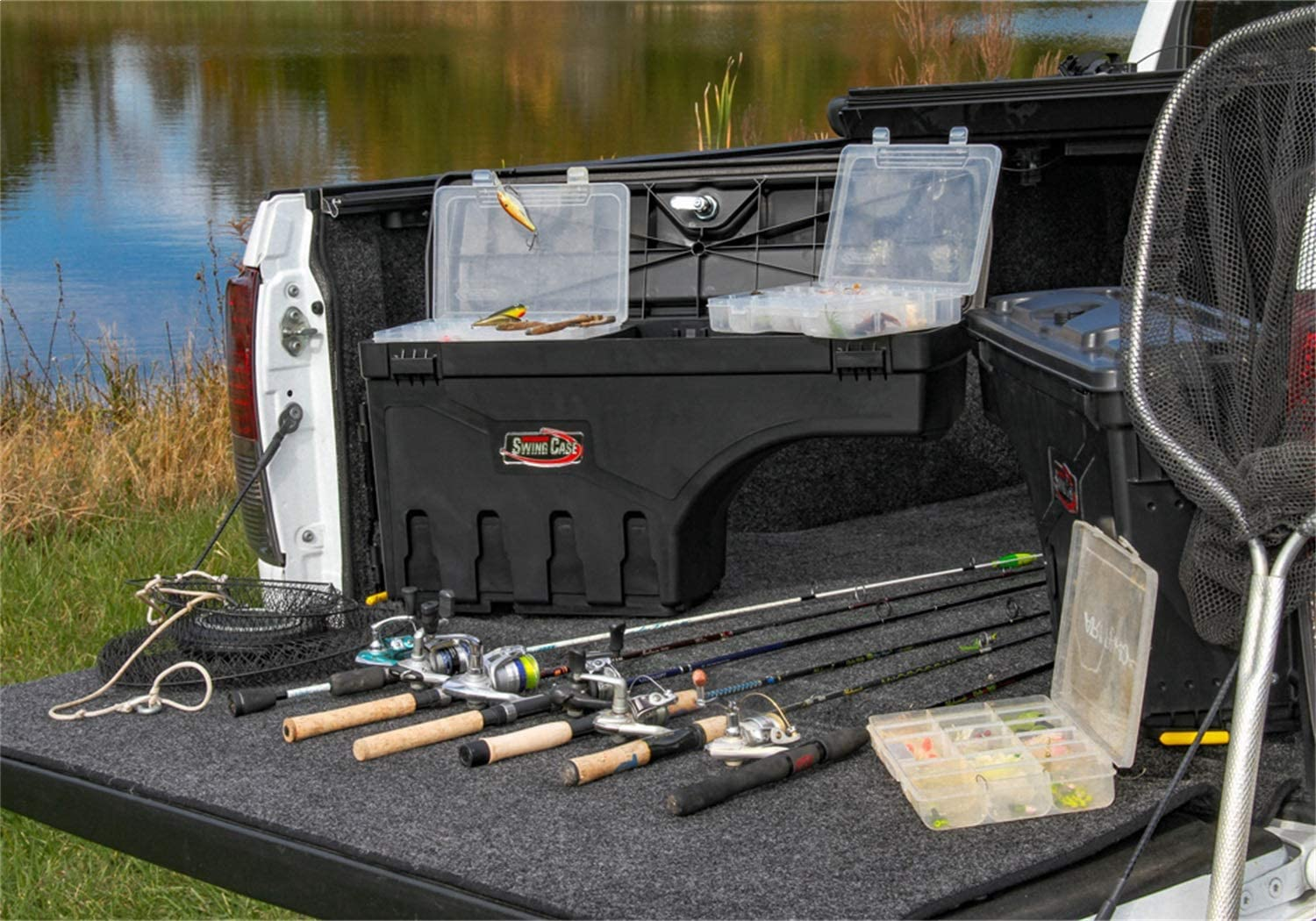 Undercover Swingcase for both driver and Passenger Side Panels of a truck. Helpful companions in recreational fishing.