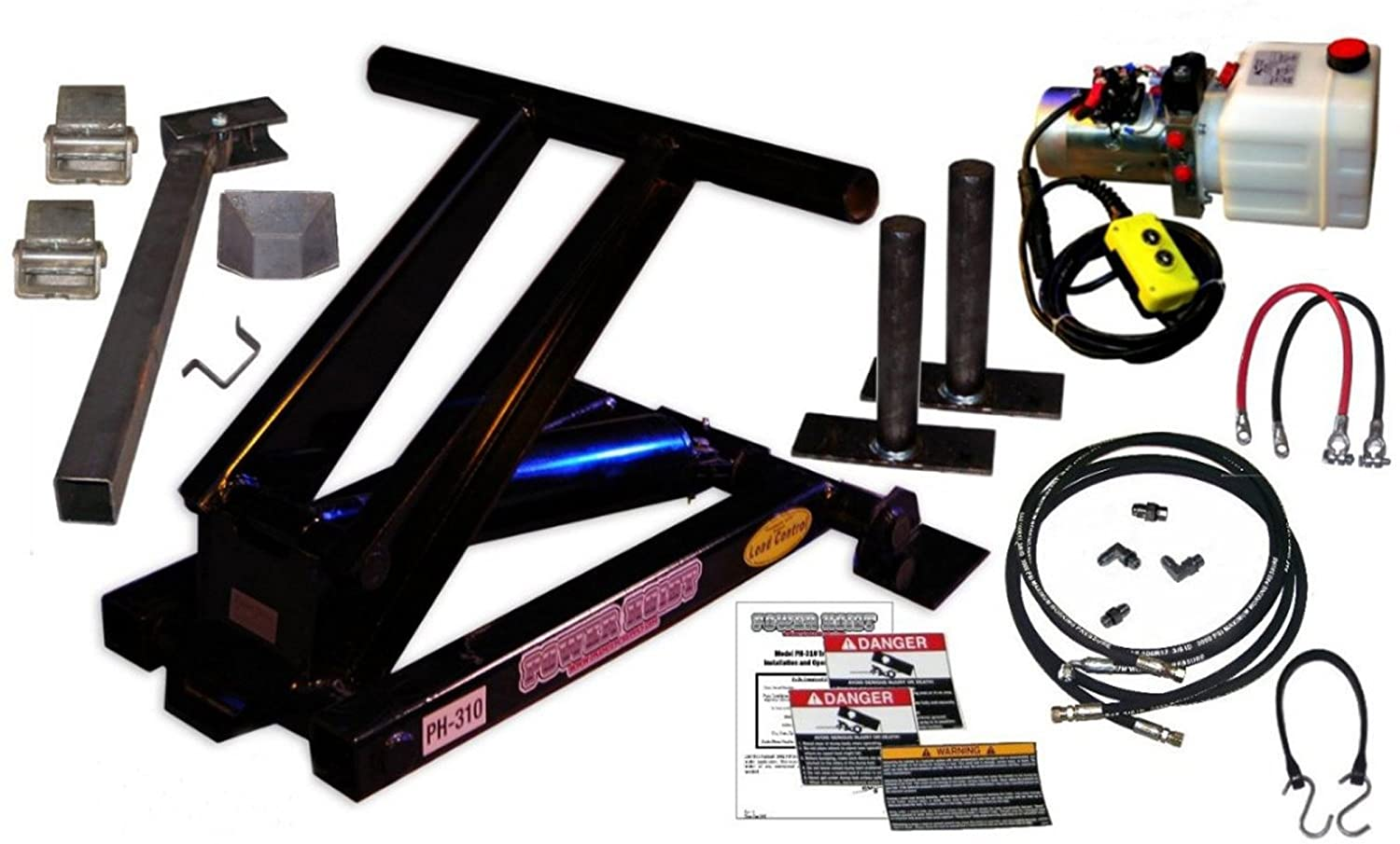 The PH310 Hydraulic Dump Kit from Power Hoist can lift a maximum of 6,000 lbs. of load.