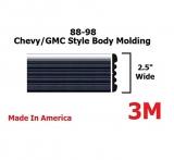Chrome Side Body Trim Molding for 1988-1998 Chevy Tahoe, Suburban, Silverado Pickup Truck – 2.5″ (Half Roll – 160″)