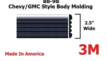Chrome Side Body Trim Molding for 1988-1998 Chevy Tahoe, Suburban, Silverado Pickup Truck – 2.5″ (Half Roll – 160″)
