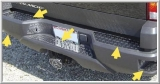 Diamond-Plate Stainless Steel Bumper Overlay Set for 2002-2006 Chevy Avalanche