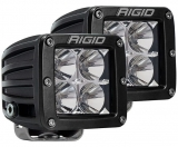 Rigid Industries LED Light (D-Series Pro, 3″, Flood Beam, Pair, Universal), 2 Pack