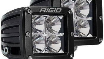 Rigid Industries LED Light (D-Series Pro, 3″, Flood Beam, Pair, Universal), 2 Pack